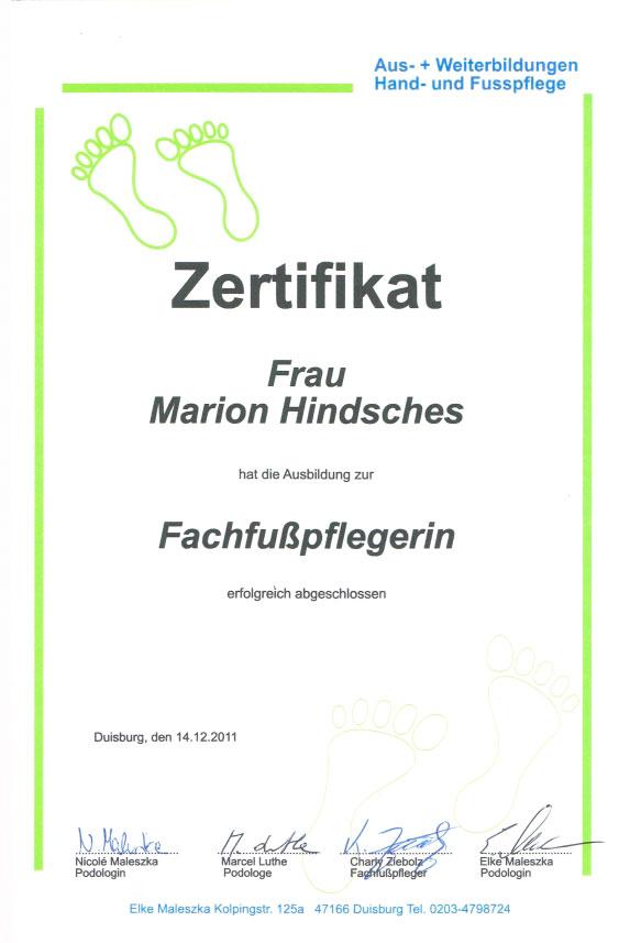 Marion Hindsches - Telefon 0203 - 550 540 - Duisburg - Wellness ...